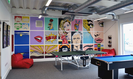 Games Room Pop-Art Mural, Acrylic mural, 2017