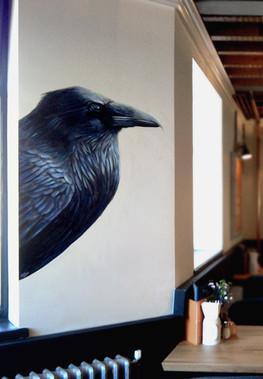Raven at The Viking, Acrylic mural, 2016