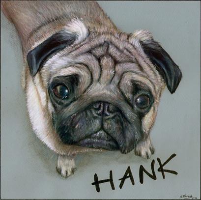 'Hank', Acrylic Painting, 2016