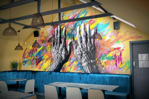 'Indigenous Hands' mural, Rumah, 2020