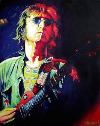 'John in Concert', Oil on canvas, 2010