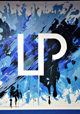 LP Strength Academy, Wallasey, Paint Splatter log mural, 2017