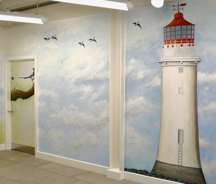 New Brighton Lighthouse Mural, Auger House Hallway, 2016