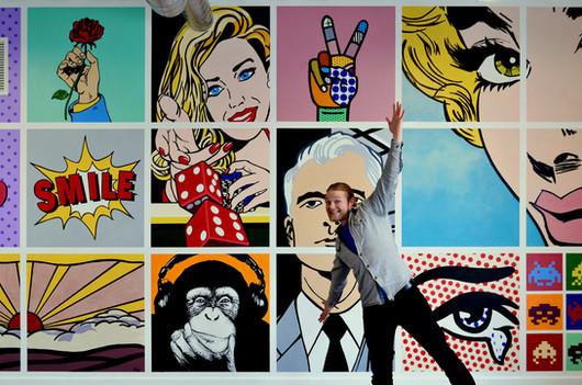 Pop-Art mural size comparisson