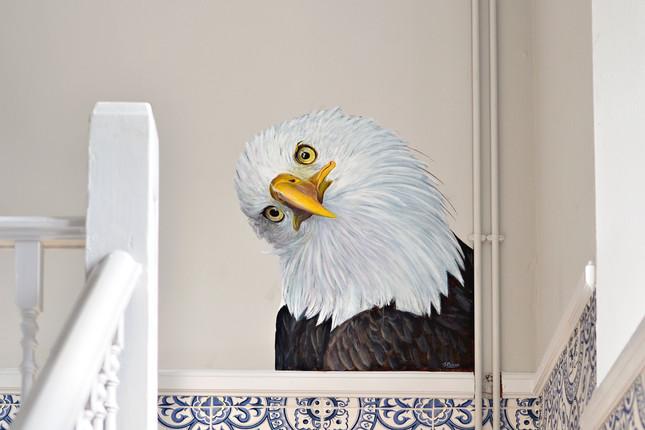 Bald Eagle at The Viking, Acrylic mural, 2016