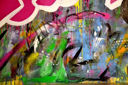 Sound Basement, graffiti mural detail