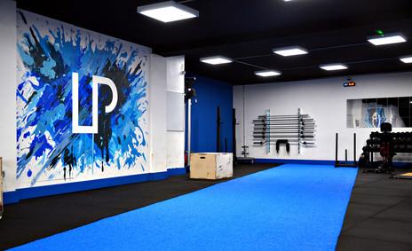 LP Strength Academy 'Paint Splat' Logo Mural
