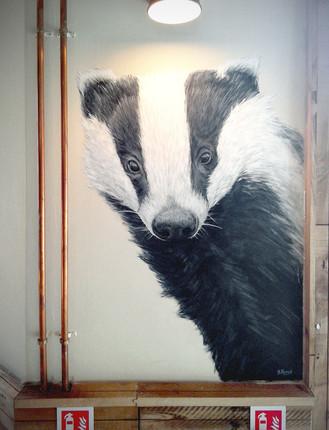 Badger at The Viking, Acrylic mural, 2016