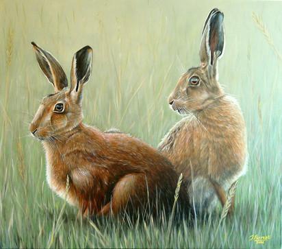 Hares, Acrylic, 2016