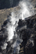 Inside Mt. Vesuvius crater