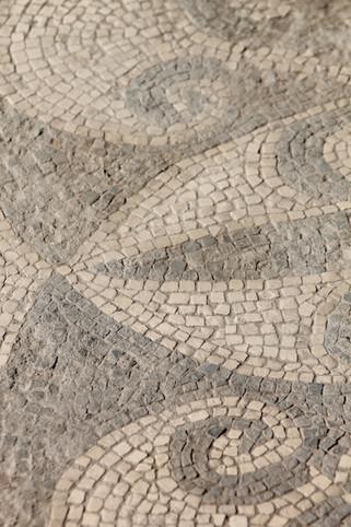 Mosiac tile floor