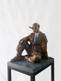 Thoughts of Pinocchio19-4,Bronze,26×39×3