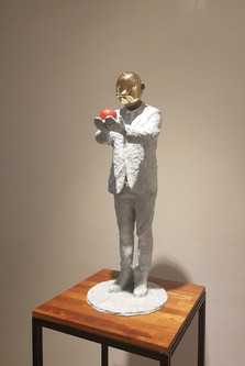 Thoughts of Pinocchio19-3,Bronze,25×25×7