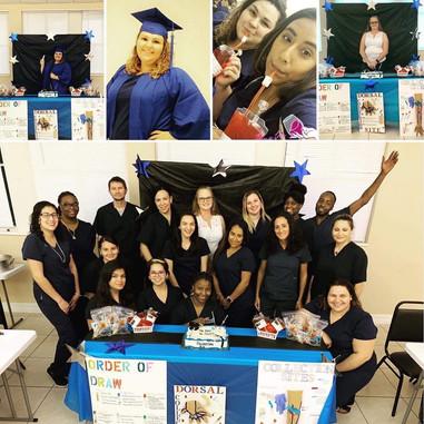 Phlebotomy Students Volunteering