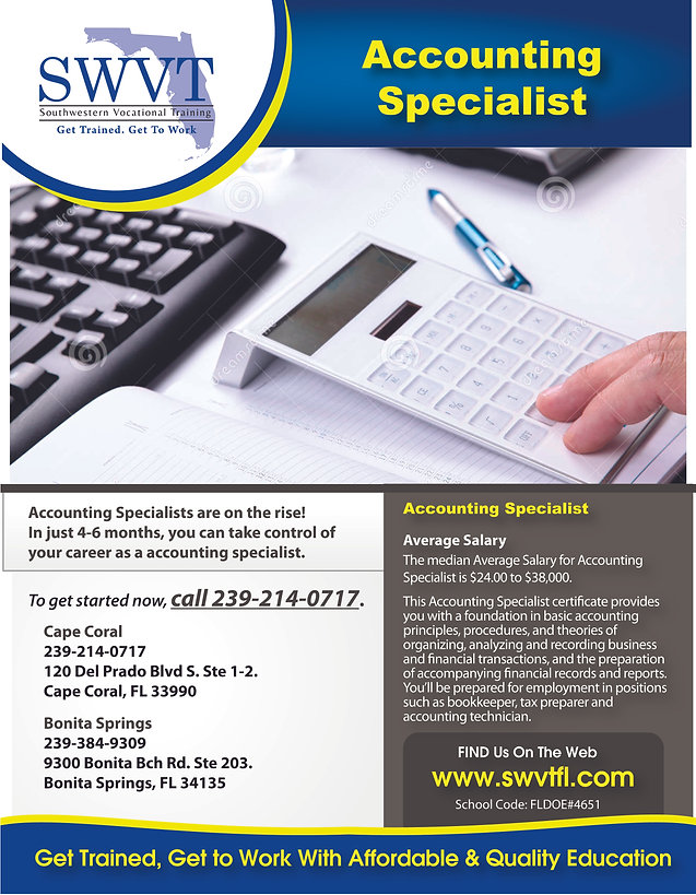 Phlebomist Accounting Specialist Ma Welcome To Swt
