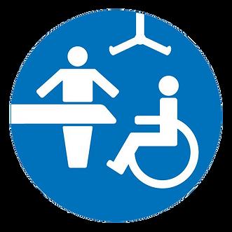 Accessible restroom logo