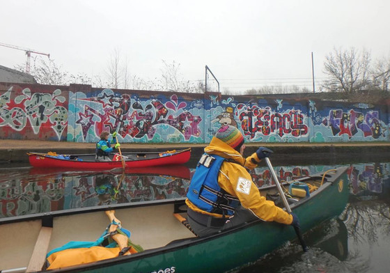 Manchester canals by canoe
