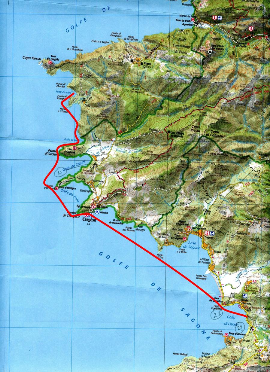 Portu du Leccia to Golfu di Lisca