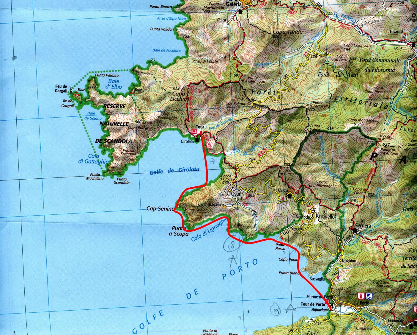 Girolata to Porto
