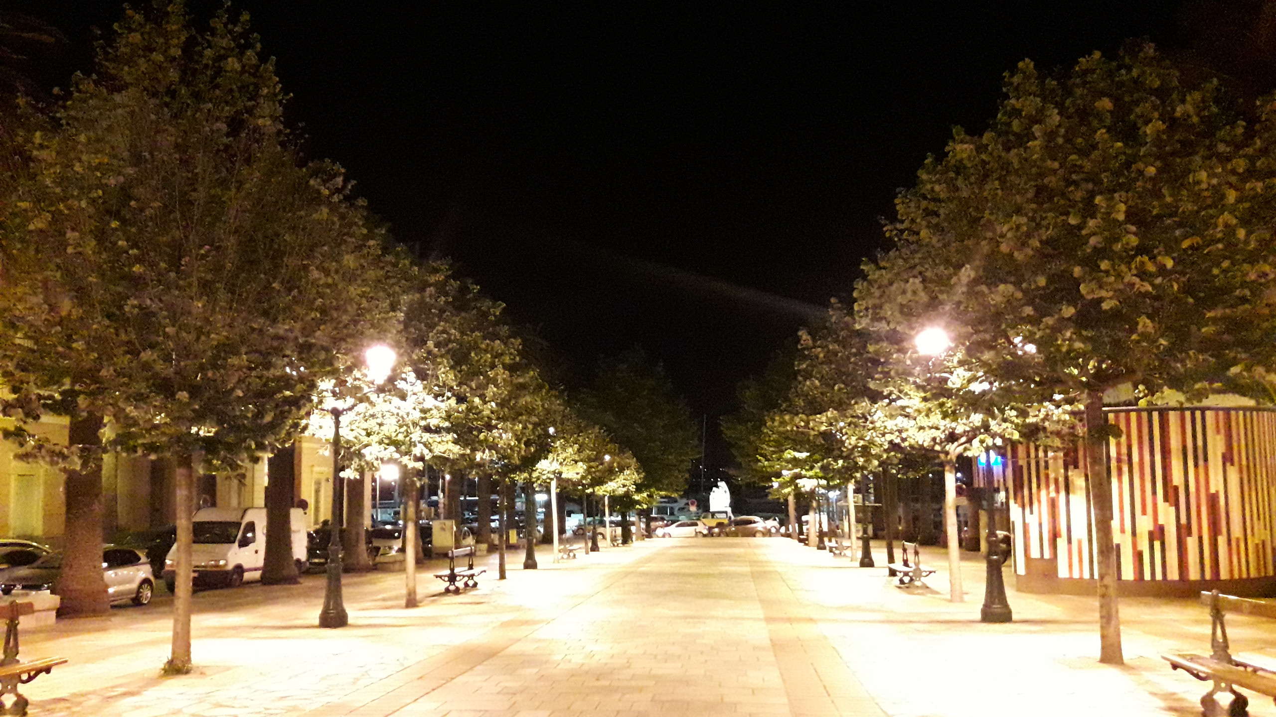 Ajaccio at night