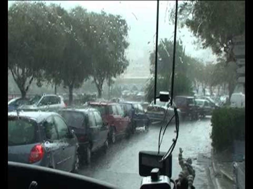 Bastia in rain