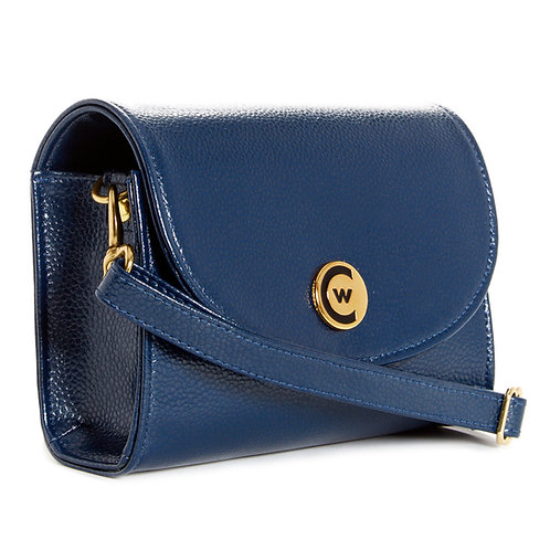 Solid Navy Signature Clutch