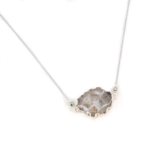 Evie Druzy Agate Gemstone Necklace