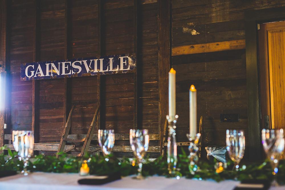 wedding reception venue depot park gainesville