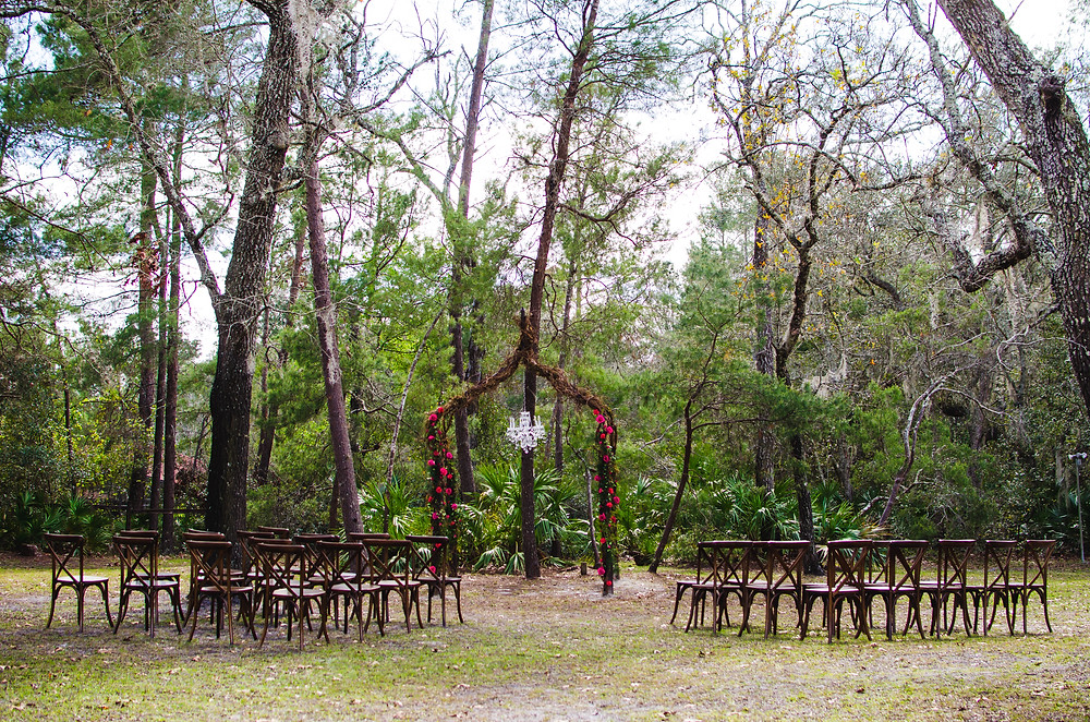 DIY Rose Wedding Altar