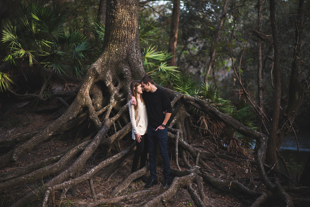gainesville engagement photography oleno state park