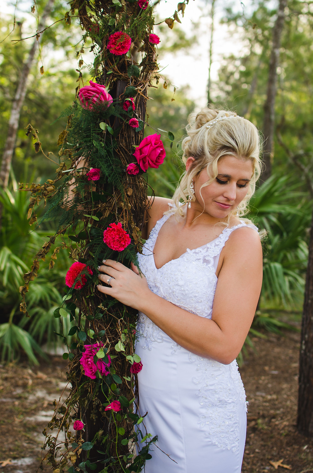 bride rose portrait