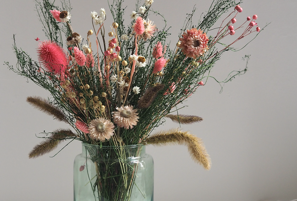 Dried Pastel Giardino Bouquet