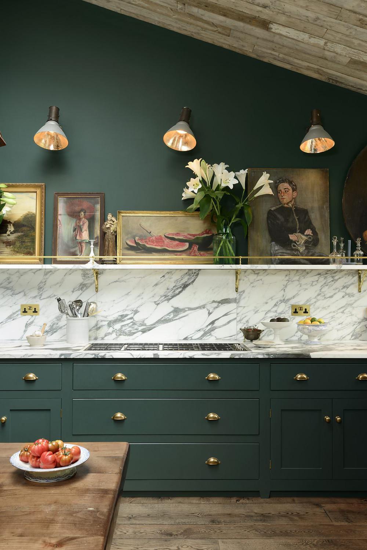 Green Kitchen Marble Worktops