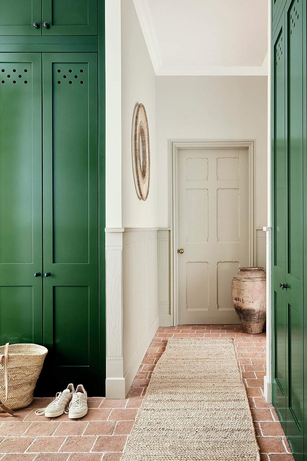 Green Paint Hallway