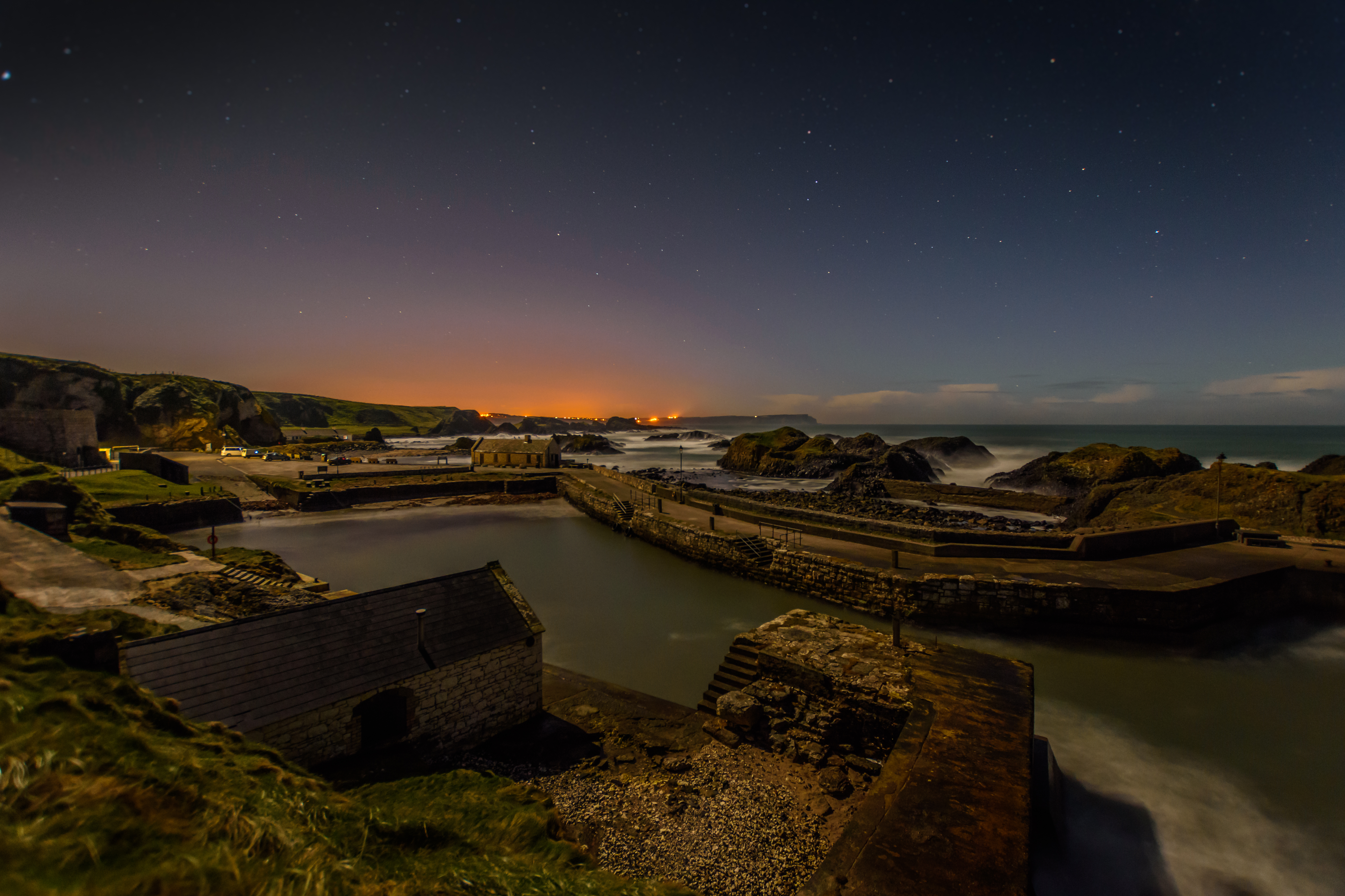Ballintoy Harbour By Night - REF:15