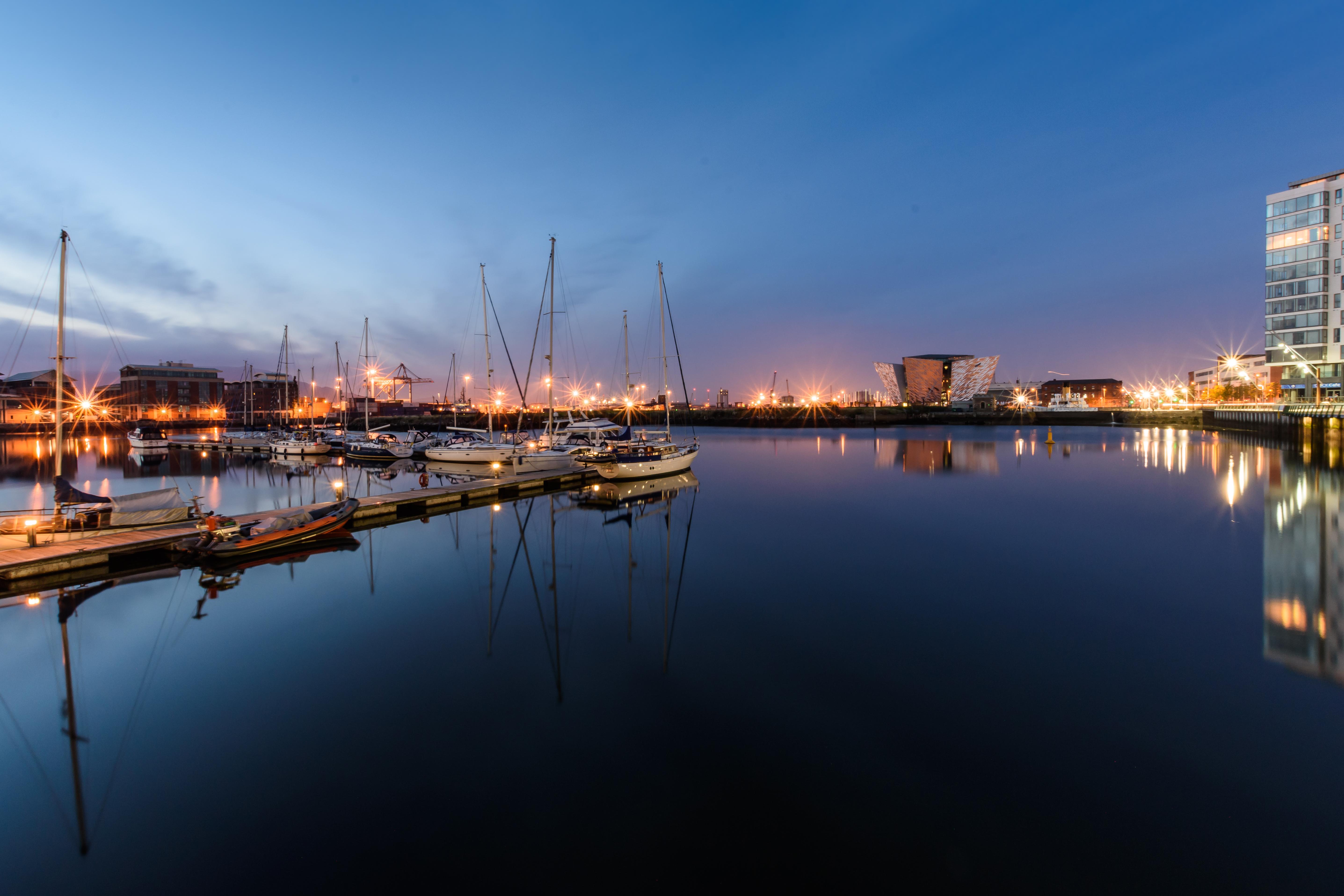 Nightfall Belfast Harbour - REF:50