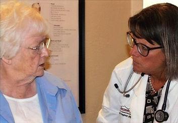 Nurse practitioner inspiring patient success