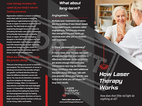 How Laser Therapy Works brochure