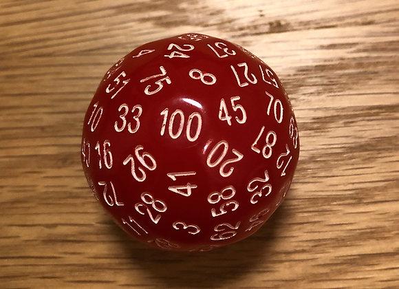 קוביית 100 פאות 1-100