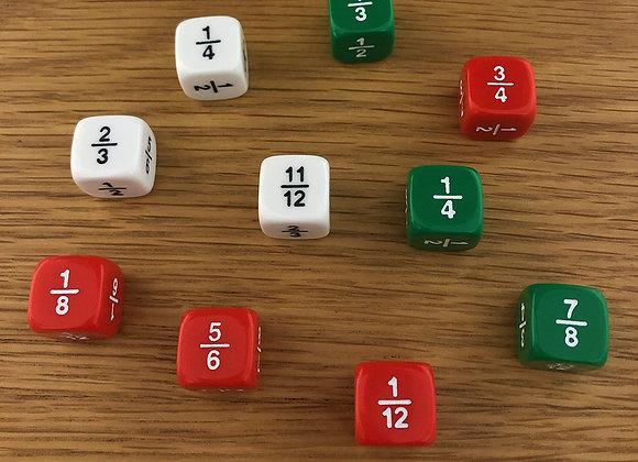 10 קוביות שברים  + רעיונות  לתרגול