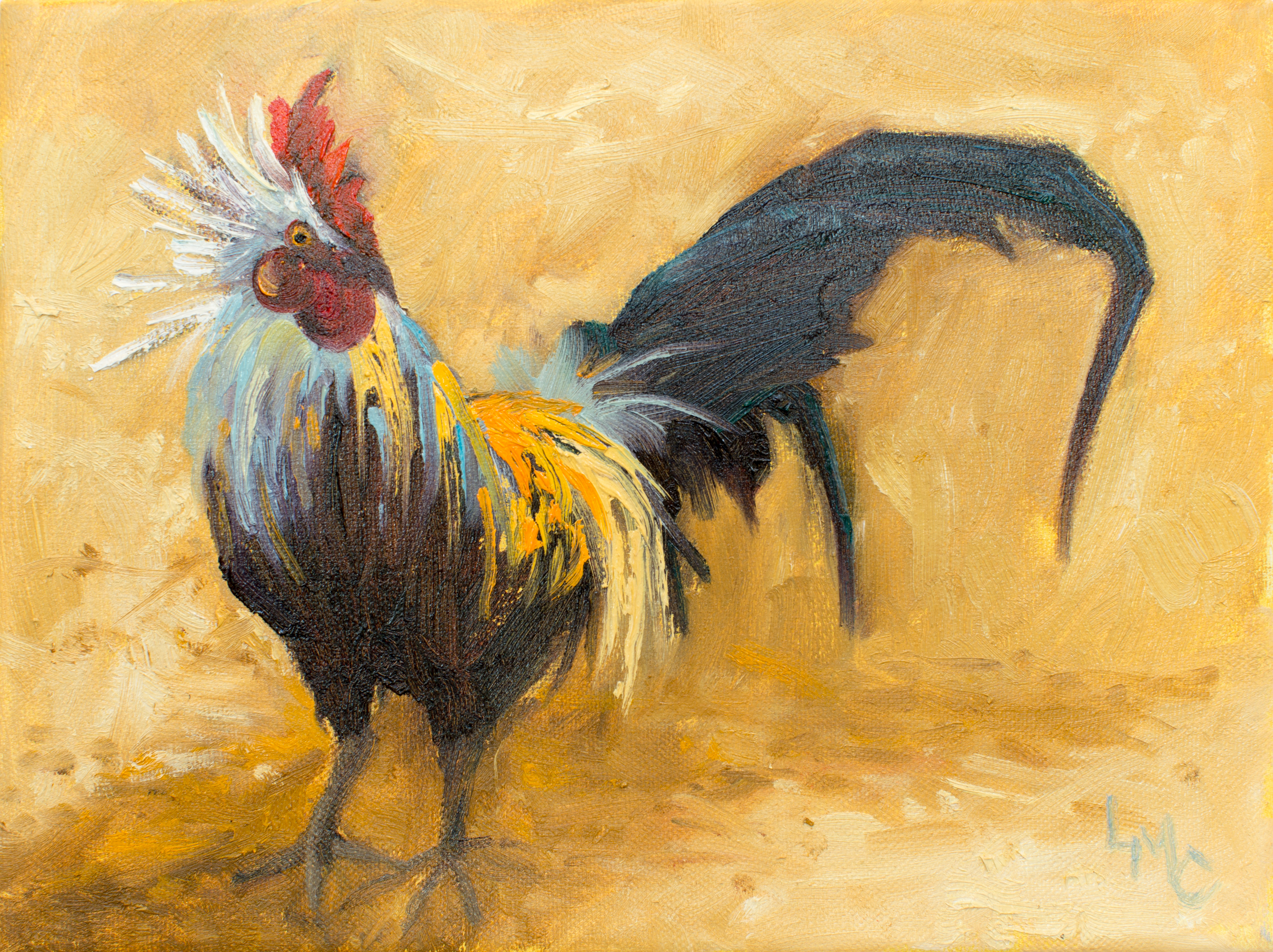 Rooster with Attitude 9x12