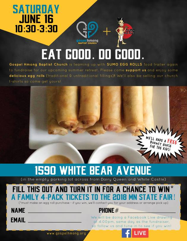EAT GOOD. DO GOOD.  ghbc + sumo eggroll