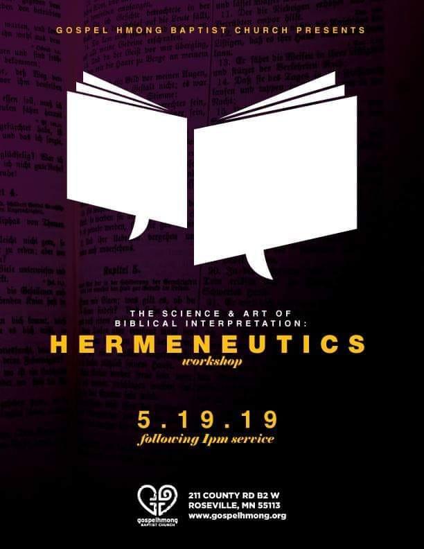Hermeneutics Workshop