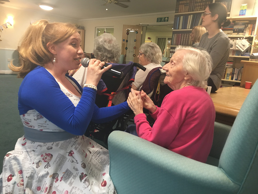 Singing with Romford Care resident