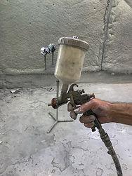 Paint sprayer for construction