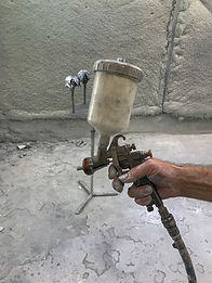 Paint sprayer for construction