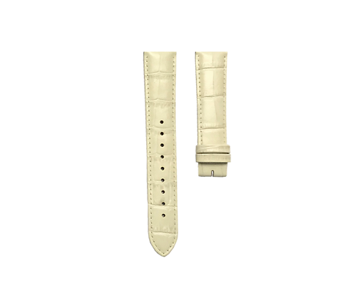 Cream White Croco strap