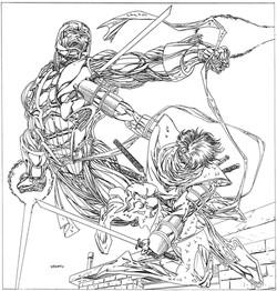 X-O Manowar & Ninjak for calendar