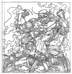X-O Manowar & Turok for calendar