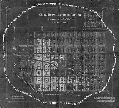 Primeira planta do parcelamento urbano d